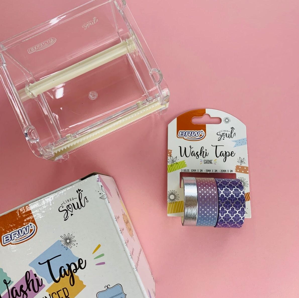 Kit BRW Washi Tape Shine Lilás