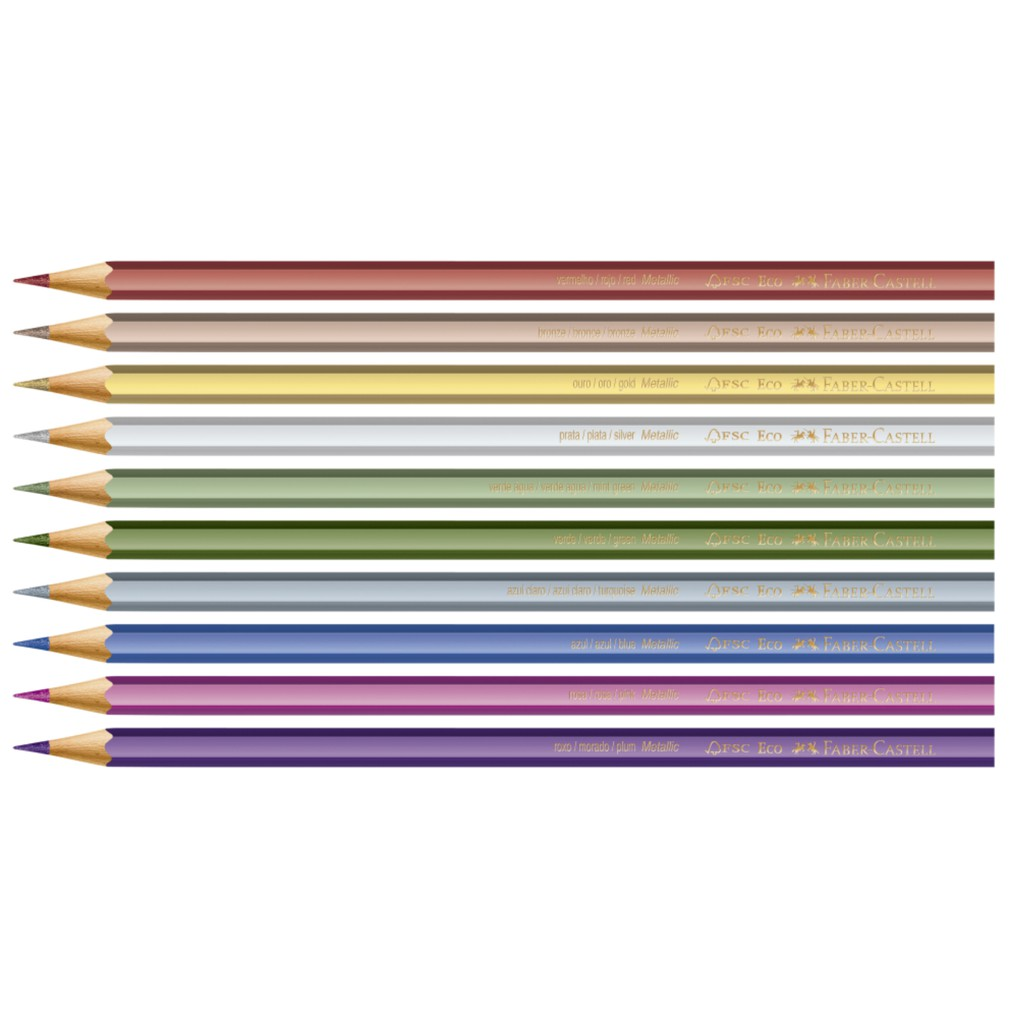 Lápis de cor Ecolápis de Cor 10 Cores Metálicas - Faber Castell