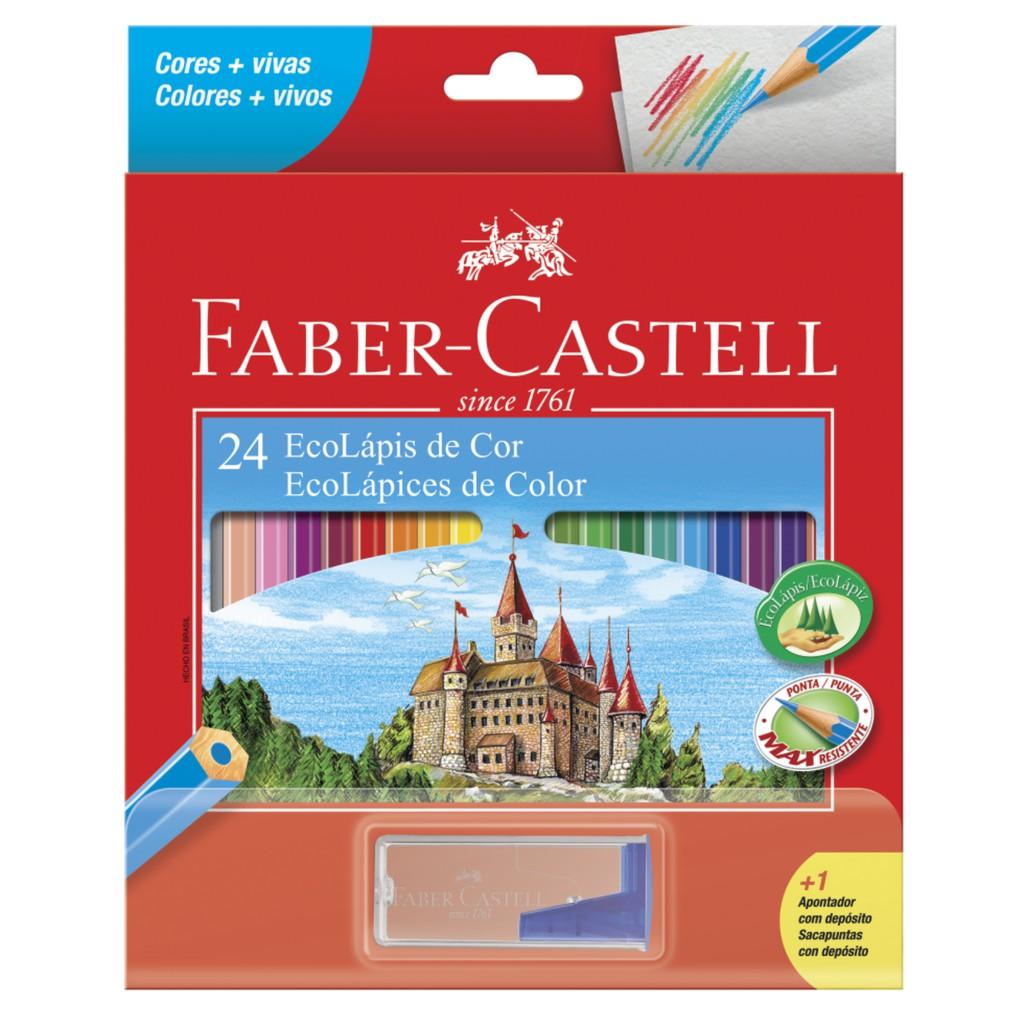 Lápis de cor Ecolápis de Cor 24 Cores + 1 Apontador - Faber Castell