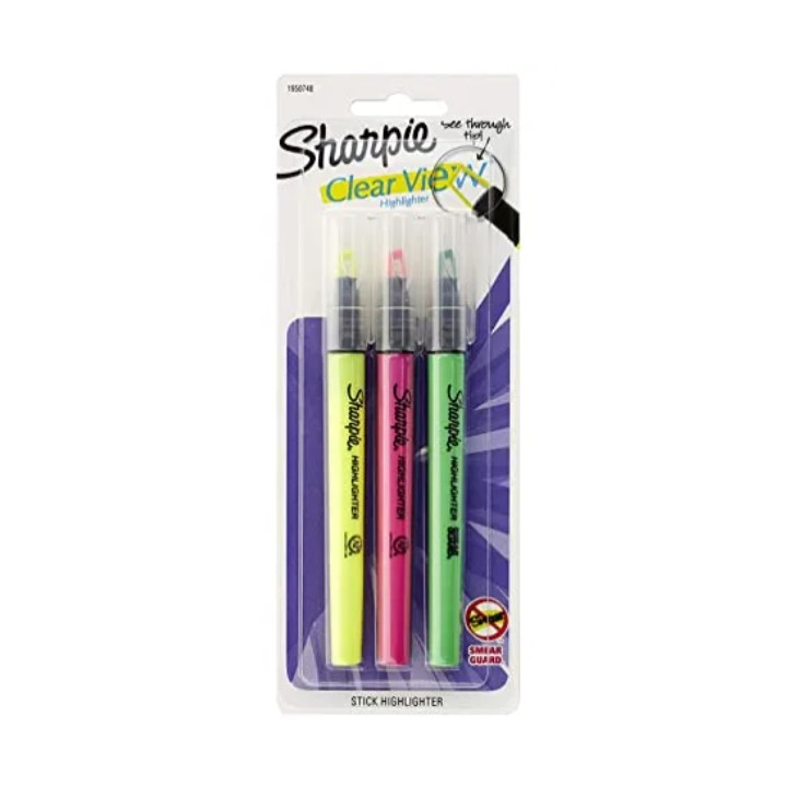 Marca Texto Clear View c/3 cores - Sharpie