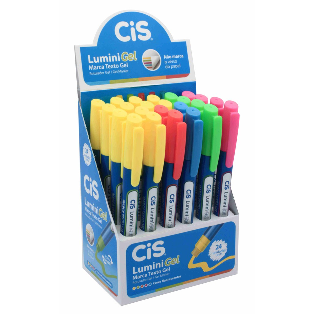 Marca Texto Lumini Gel Neon - CiS