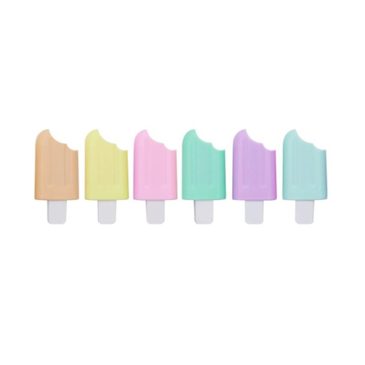 Marca Texto Mini Pastel Picolé c/6 cores - Leonora