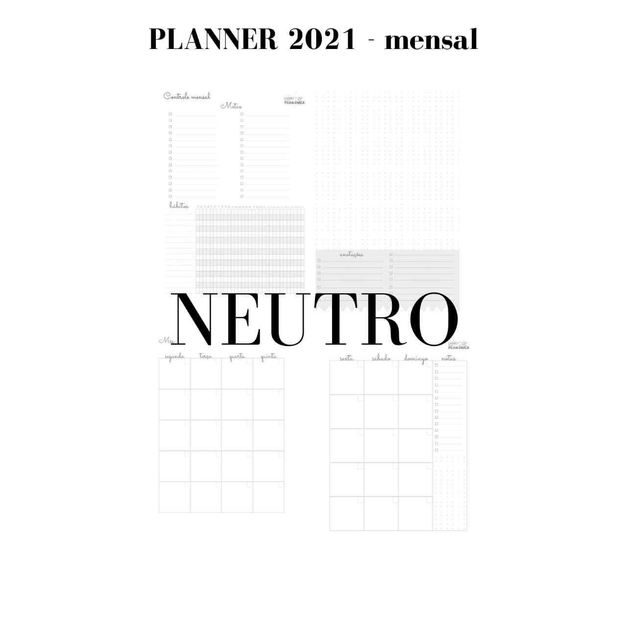 Planner 2021 - Nuvem