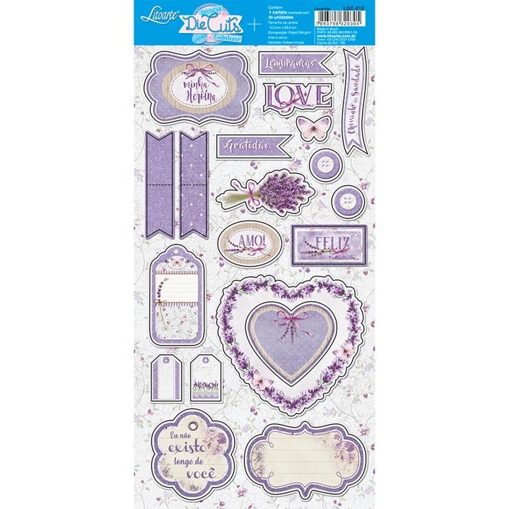 Recortes em papel Lavanda Love - Litoarte