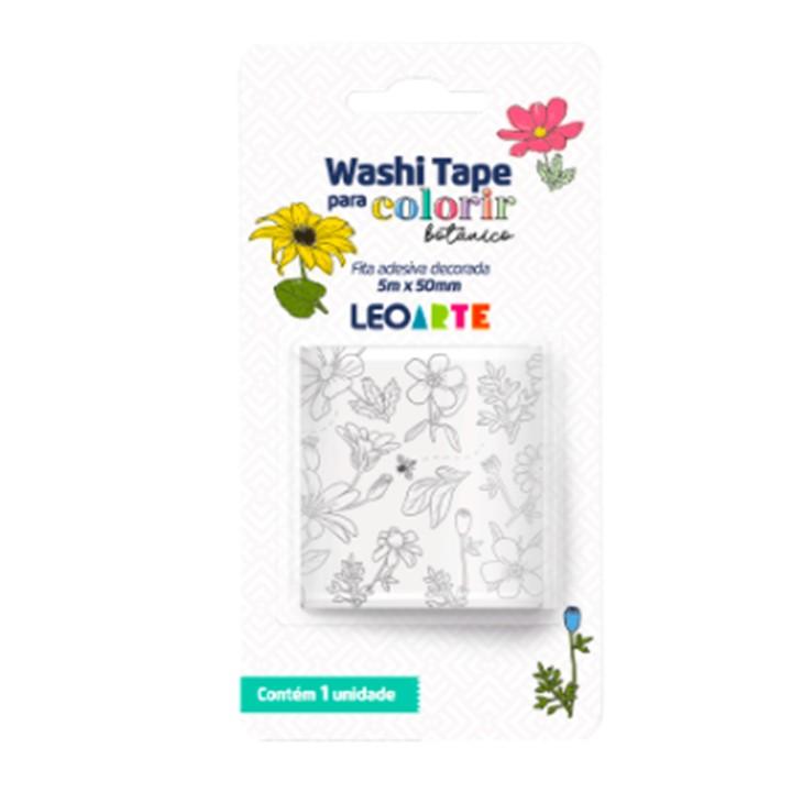 Washi Tape Botânico para Colorir - Leonora