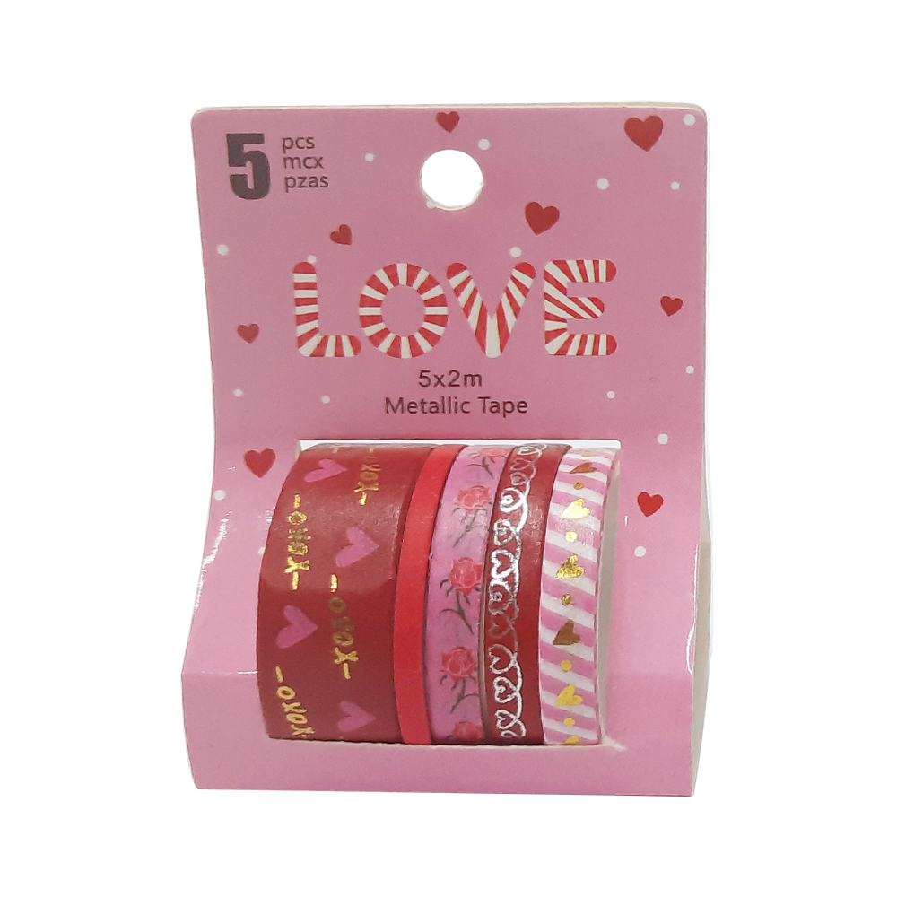 Washi Tape Love c/5 unidades