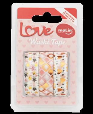 Washi Tape Love - Molin (3 unidades)