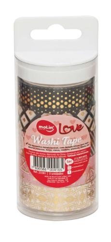 Washi Tape Love - Molin (5 unidades)