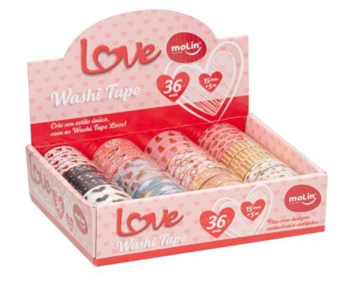 Washi Tape Molin Love Unidade - Molin
