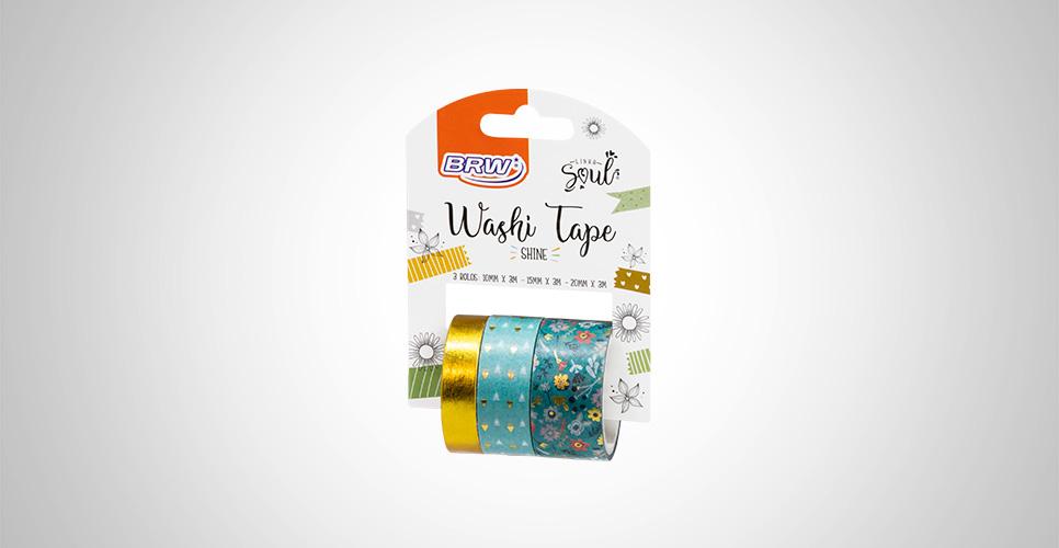 Washi Tape Shine Flor Verde - BRW