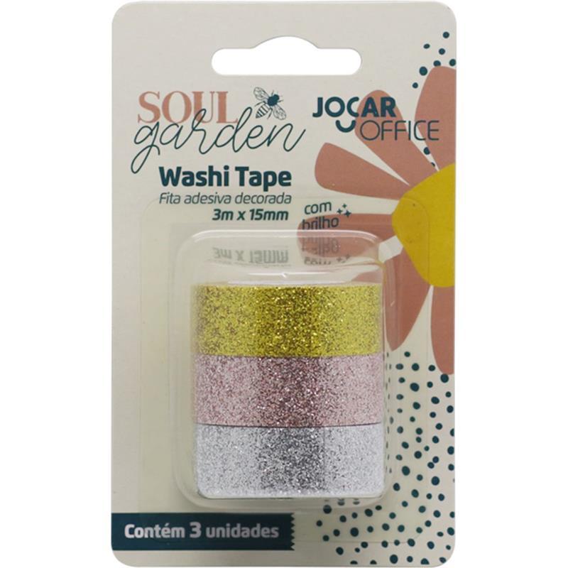 Washi Tape Soul Garden Brilho - Leonora