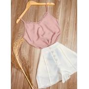 Blusa Alcinha Fashion Rosê