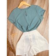 Blusa Delicada Fashion Verde Claro