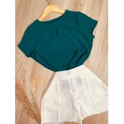 Blusa Delicada Fashion Verde Escuro