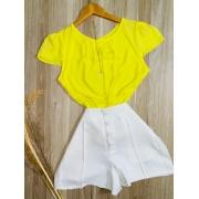 Blusa Manguinha Amarela