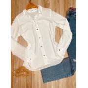 Camisa Manga Longa com Botões Lisa Florença Branco