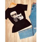 Camiseta Dupla de Gatos