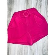 Short Tecido Fashion Deborah Pink