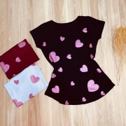 T-shirt Hearts With Glitter