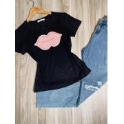 T-shirt Top Boca Black