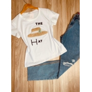 T-shirt Top The Hat White