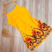 Vestido Alcinha Curto Deborah Floral Amarelo