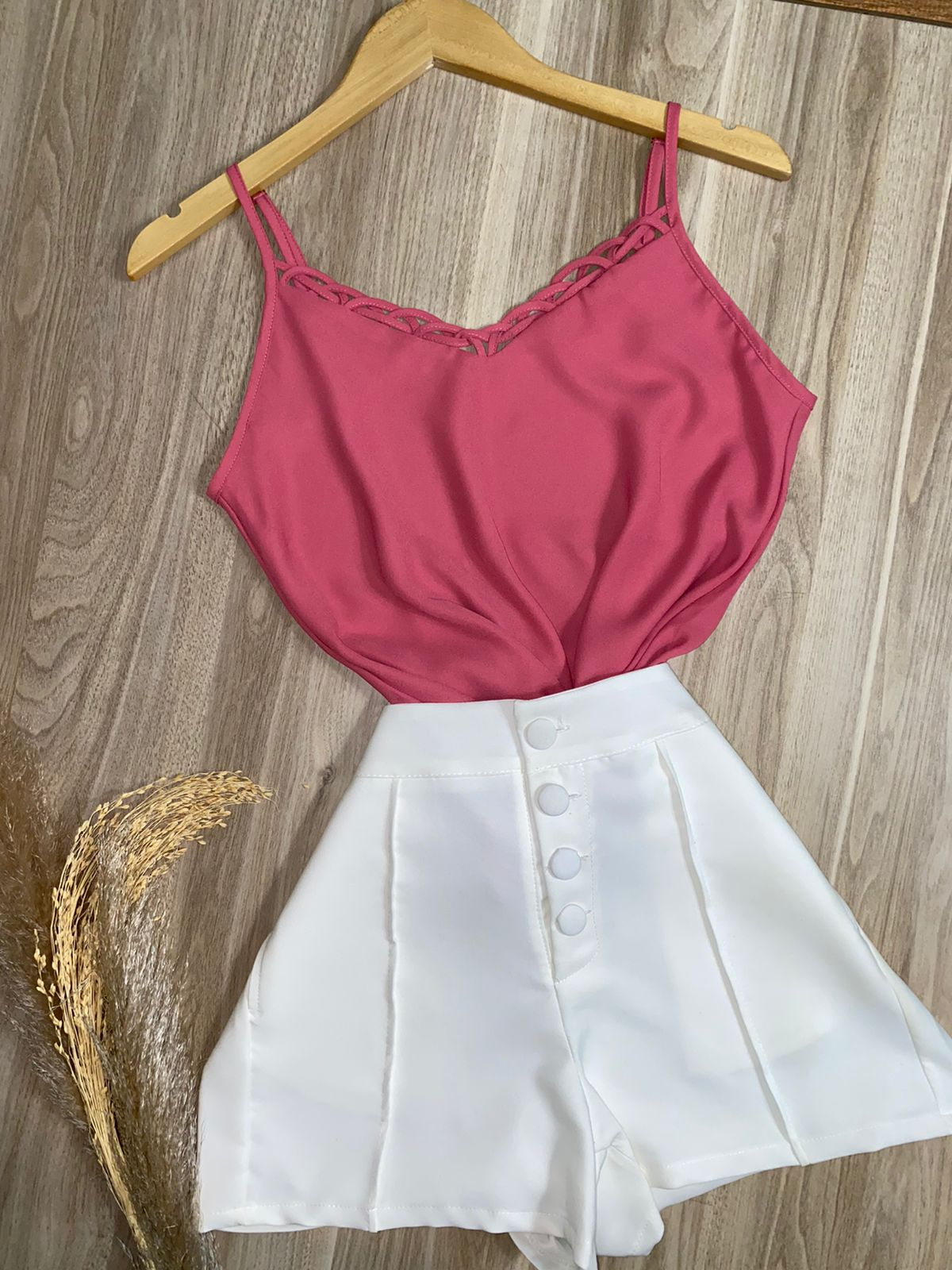 Blusa Alcinha Fashion Rosa