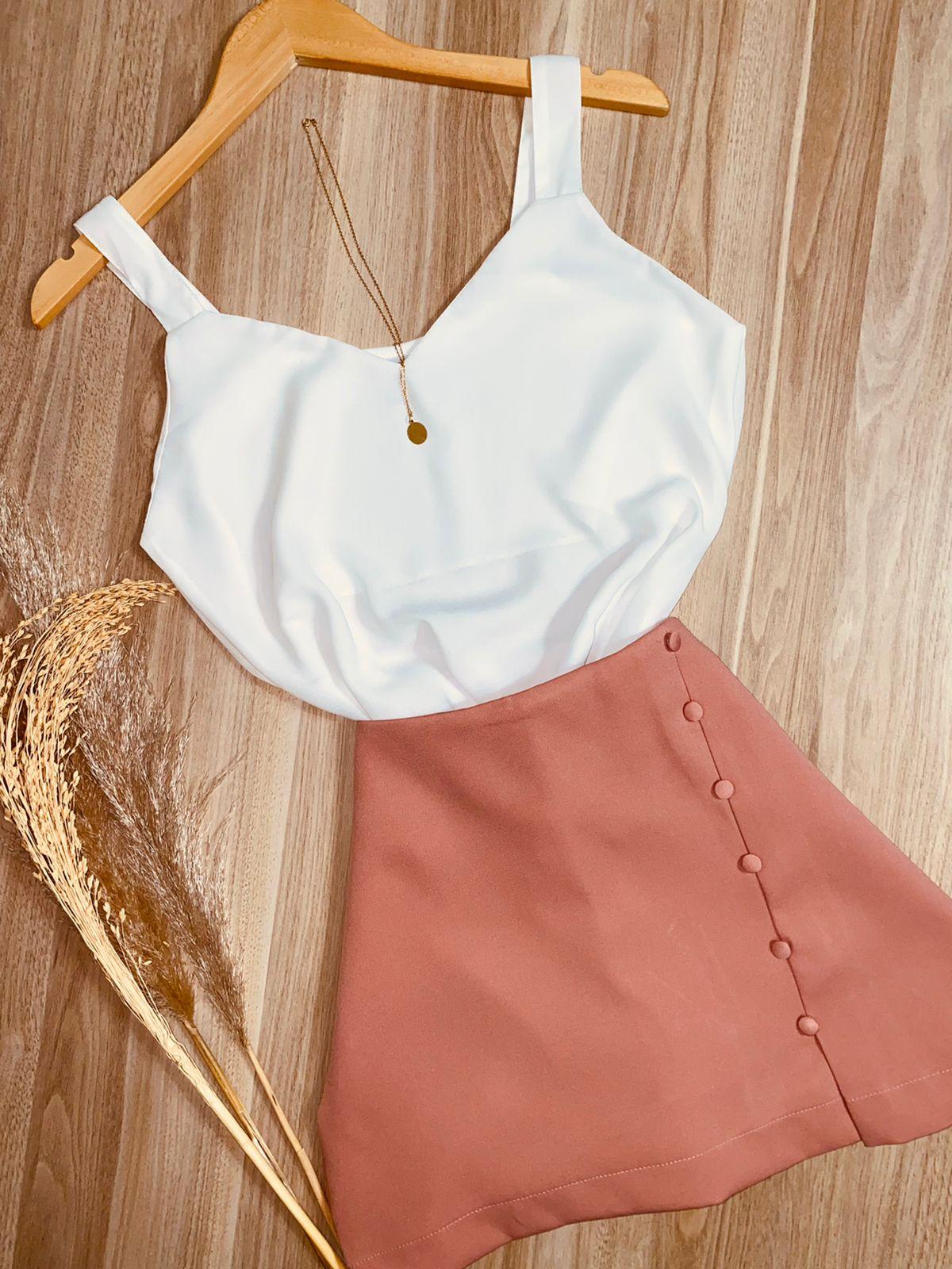 Blusa Alcinha Top Fashion Branca