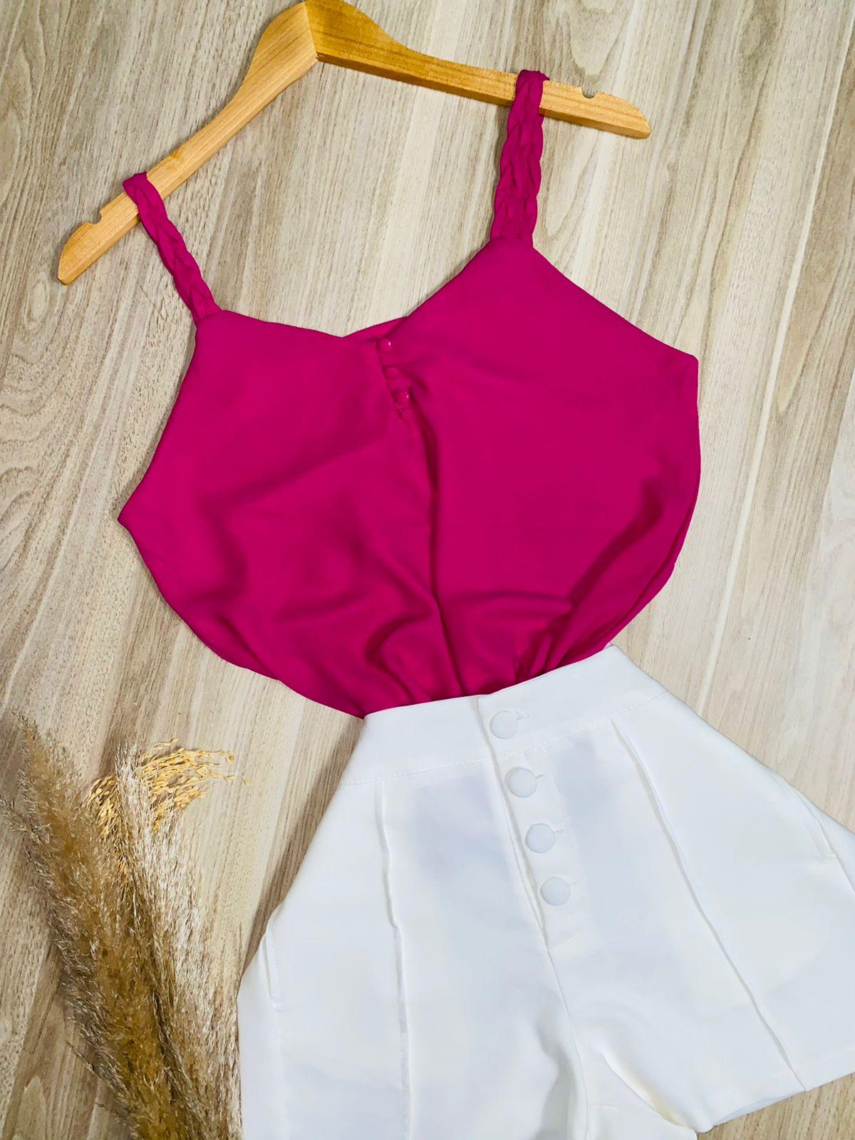 Blusa Alcinha Trançada Pink