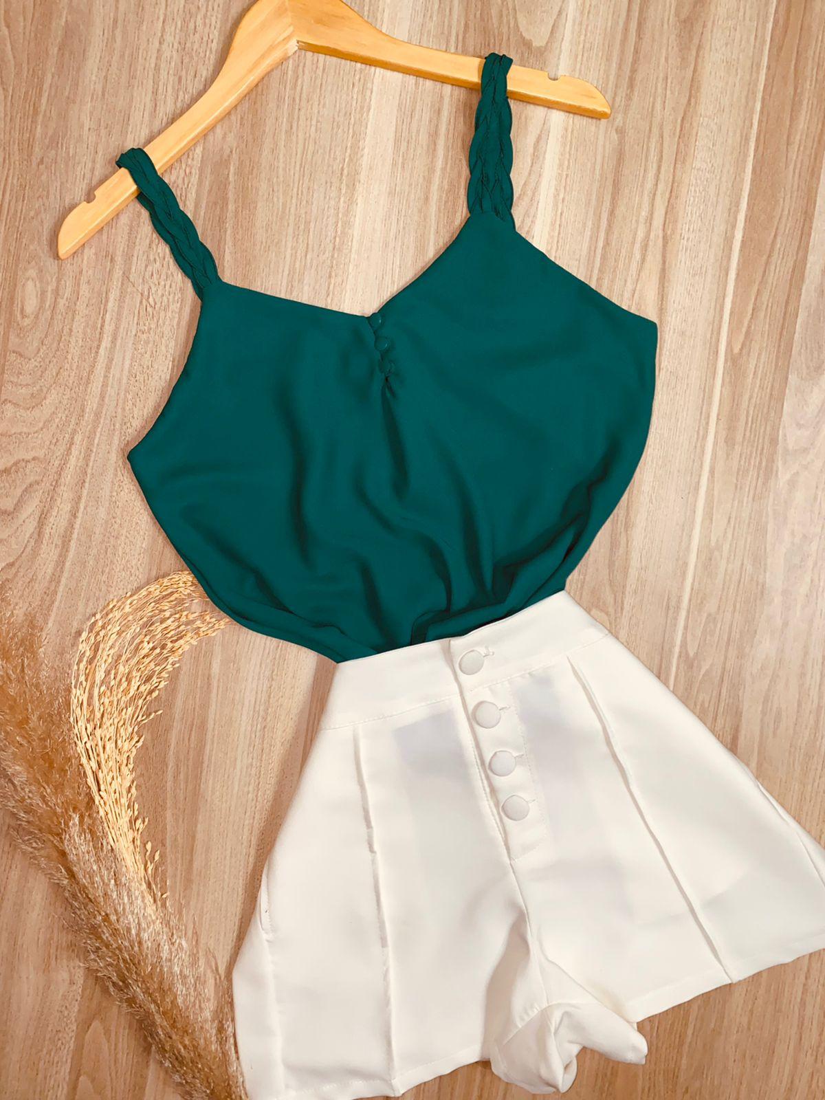 Blusa Alcinha Trançada Verde