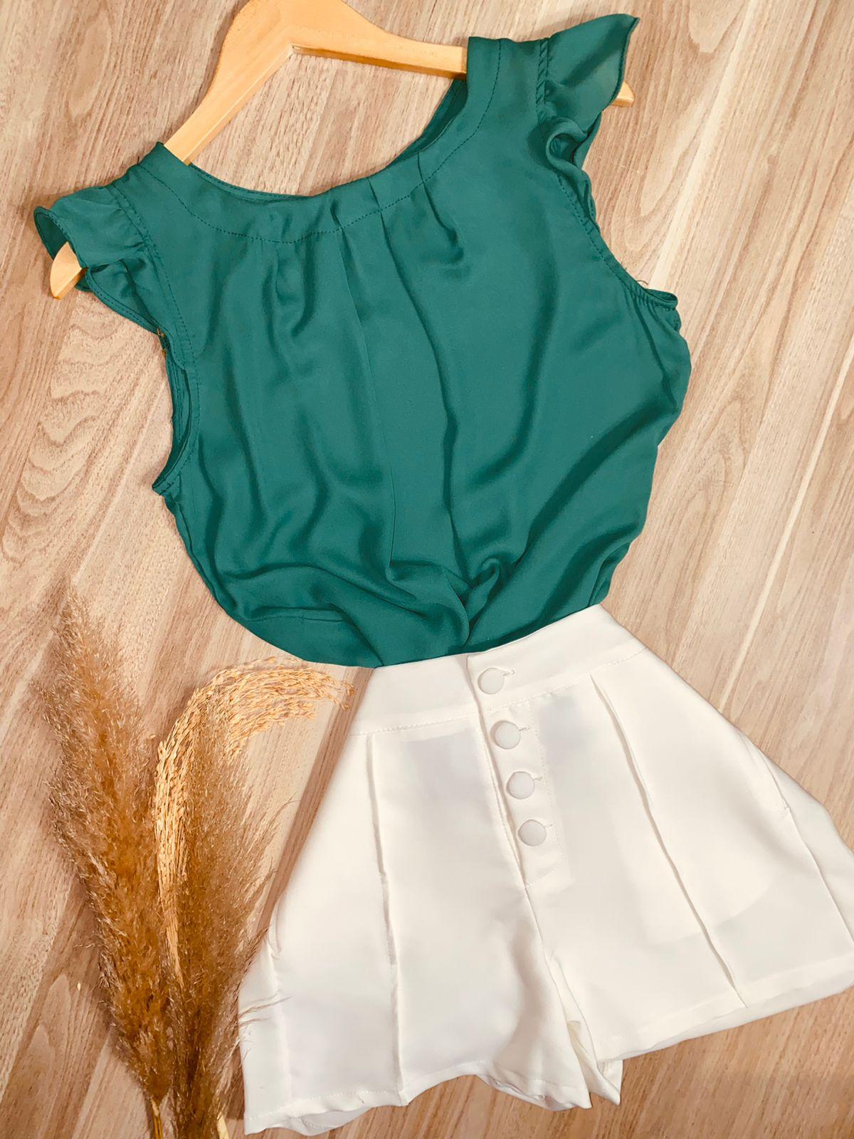 Blusa com Babadinho Verde