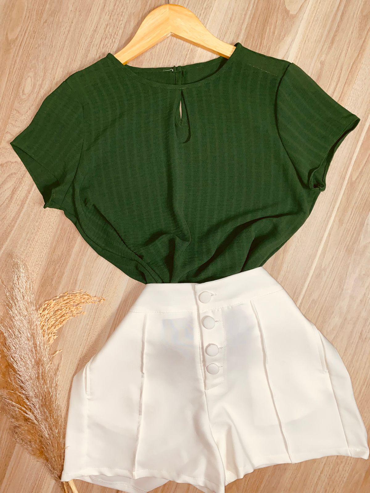 Blusa Delicada Fashion Verde Militar