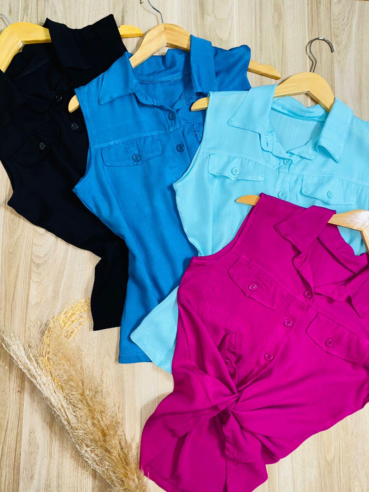 Blusa Regata Azul Claro
