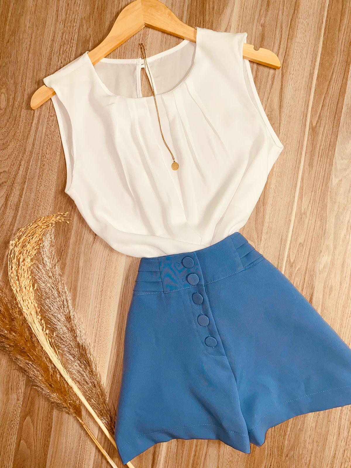 Blusa Regata com Decote Sarah Branca