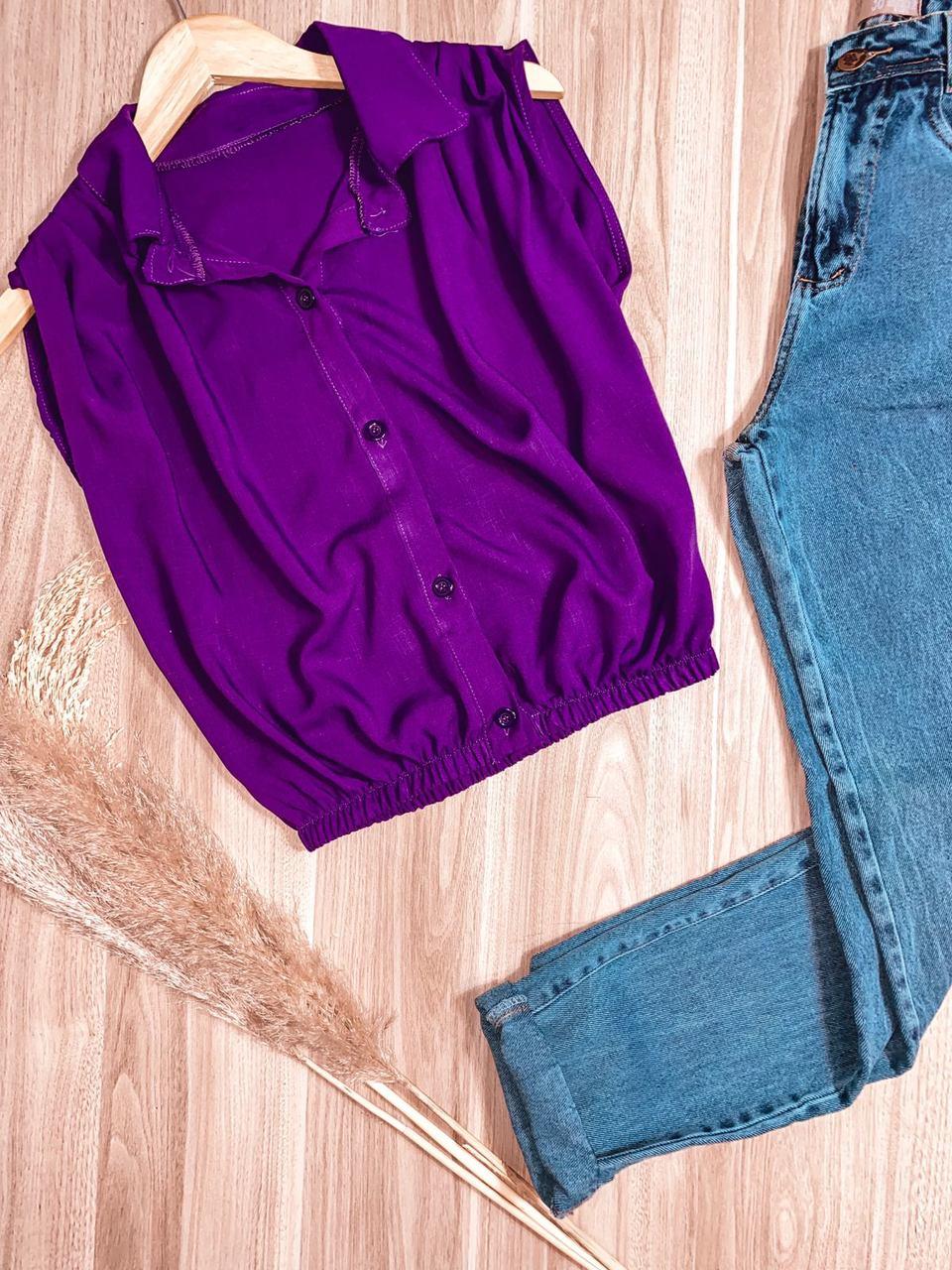 Blusa Regata Fashion Roxo
