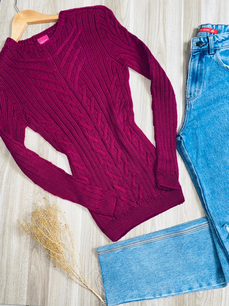 Blusa Tricot com detalhes Luana