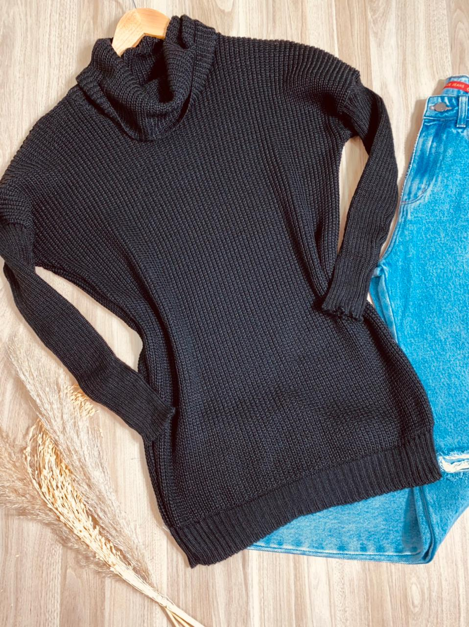 Blusa Tricot Gola Alta Luciana Fashion