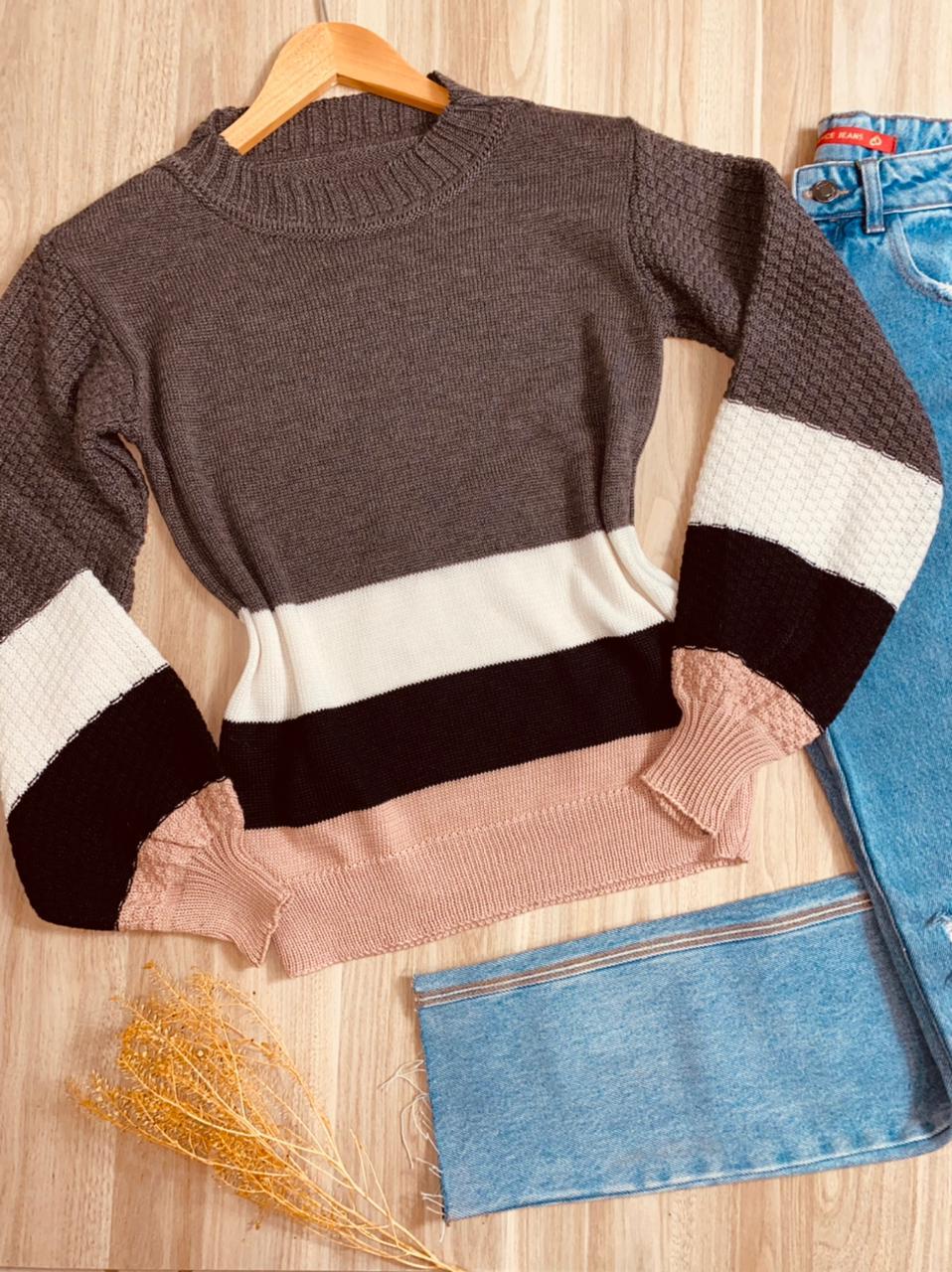 Blusa Tricot Listrada Jasmin