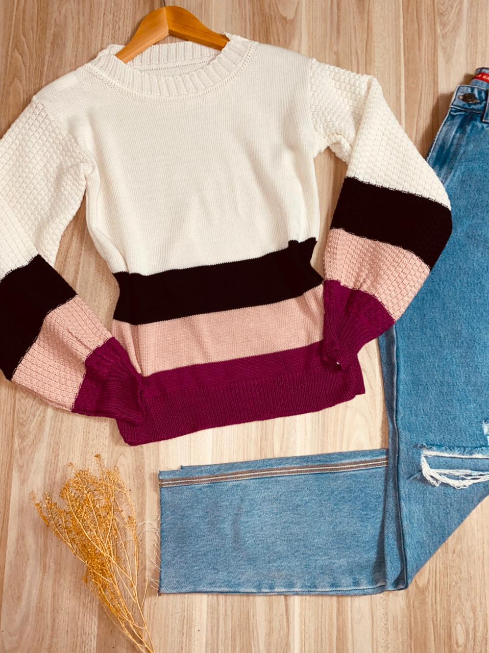 Blusa Tricot Listrada Mariana