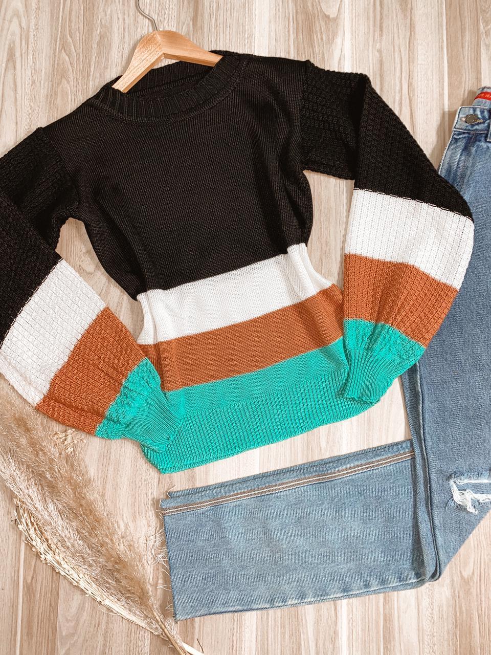 Blusa Tricot Listrada Vitória Fashion