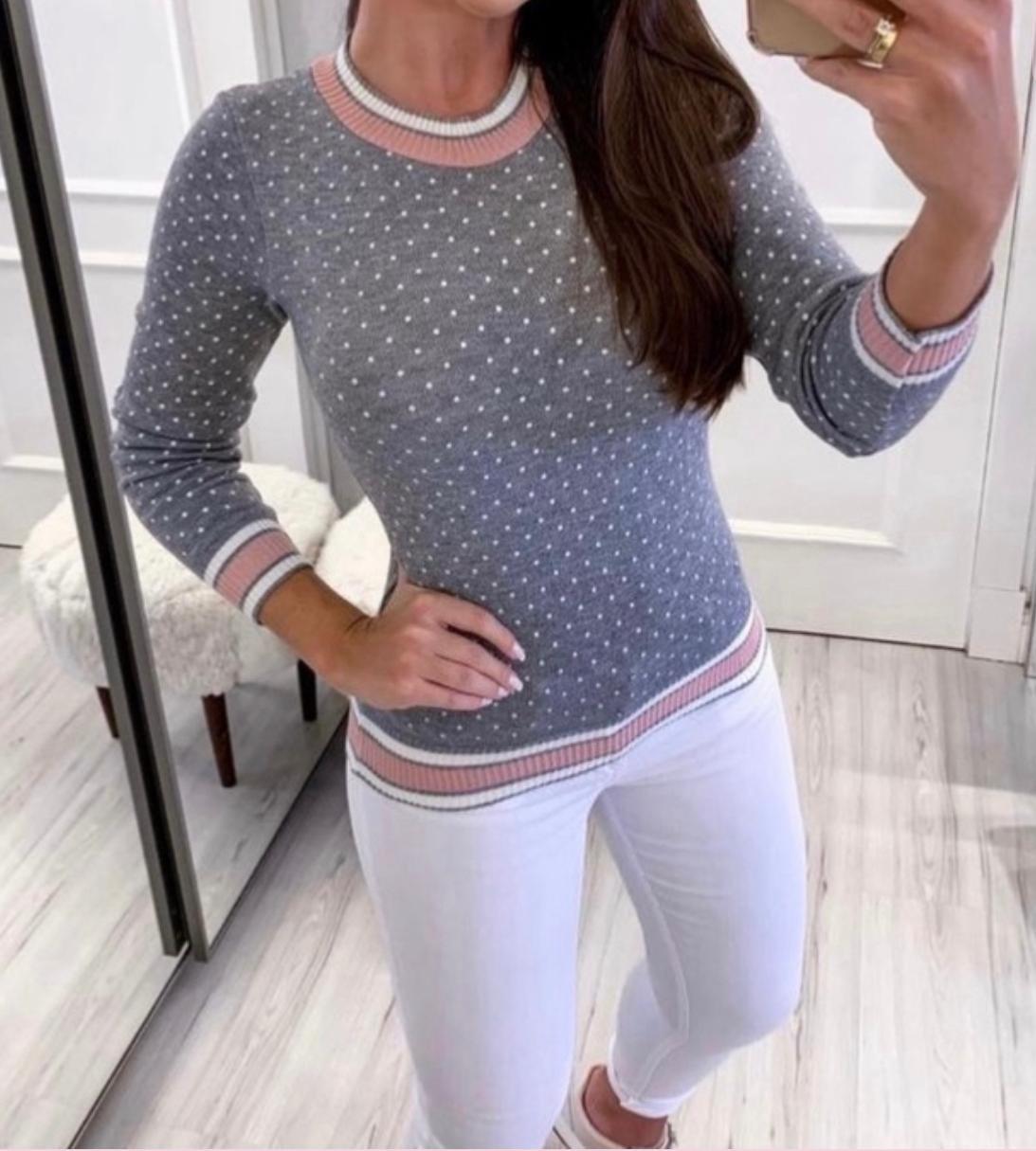 Blusa Tricot Poá Lais Fashion