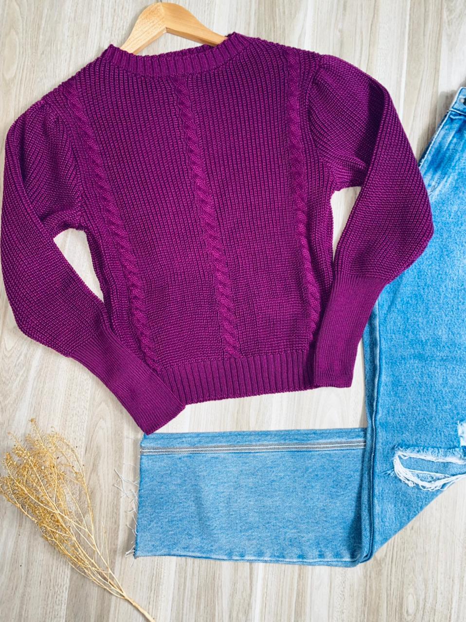 Blusa Tricot Trançado Alice Fashion