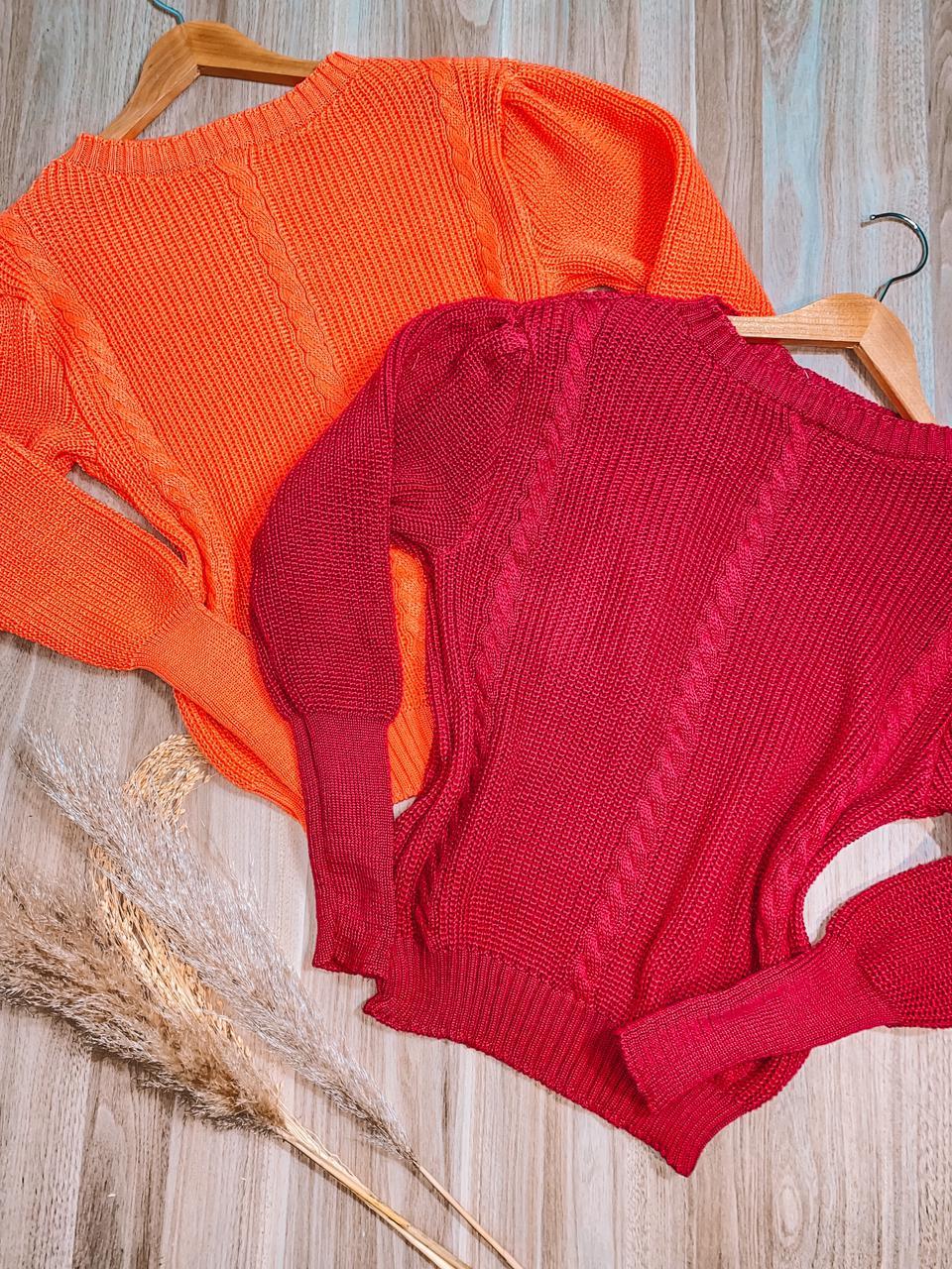 Blusa Tricot Trançado Elaine Fashion