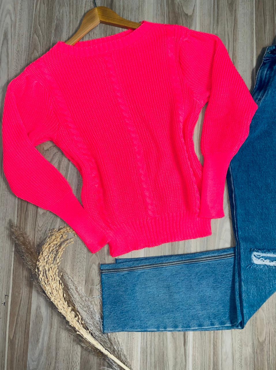 Blusa Tricot Trançado Sara Fashion