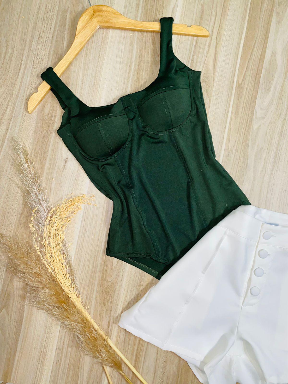 Body Meia Taça Verde