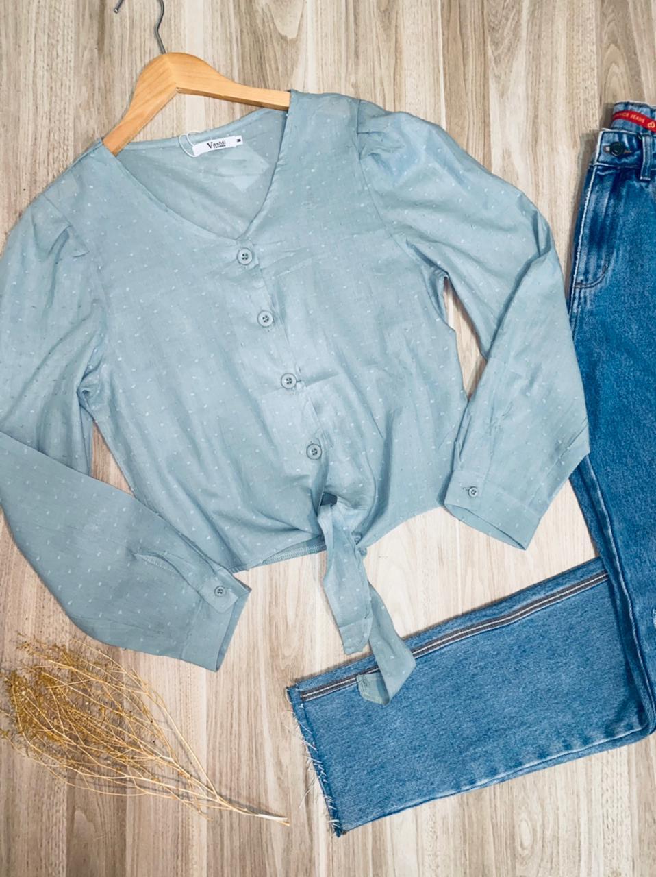 Camisa Florença de Amarrar Chiffon