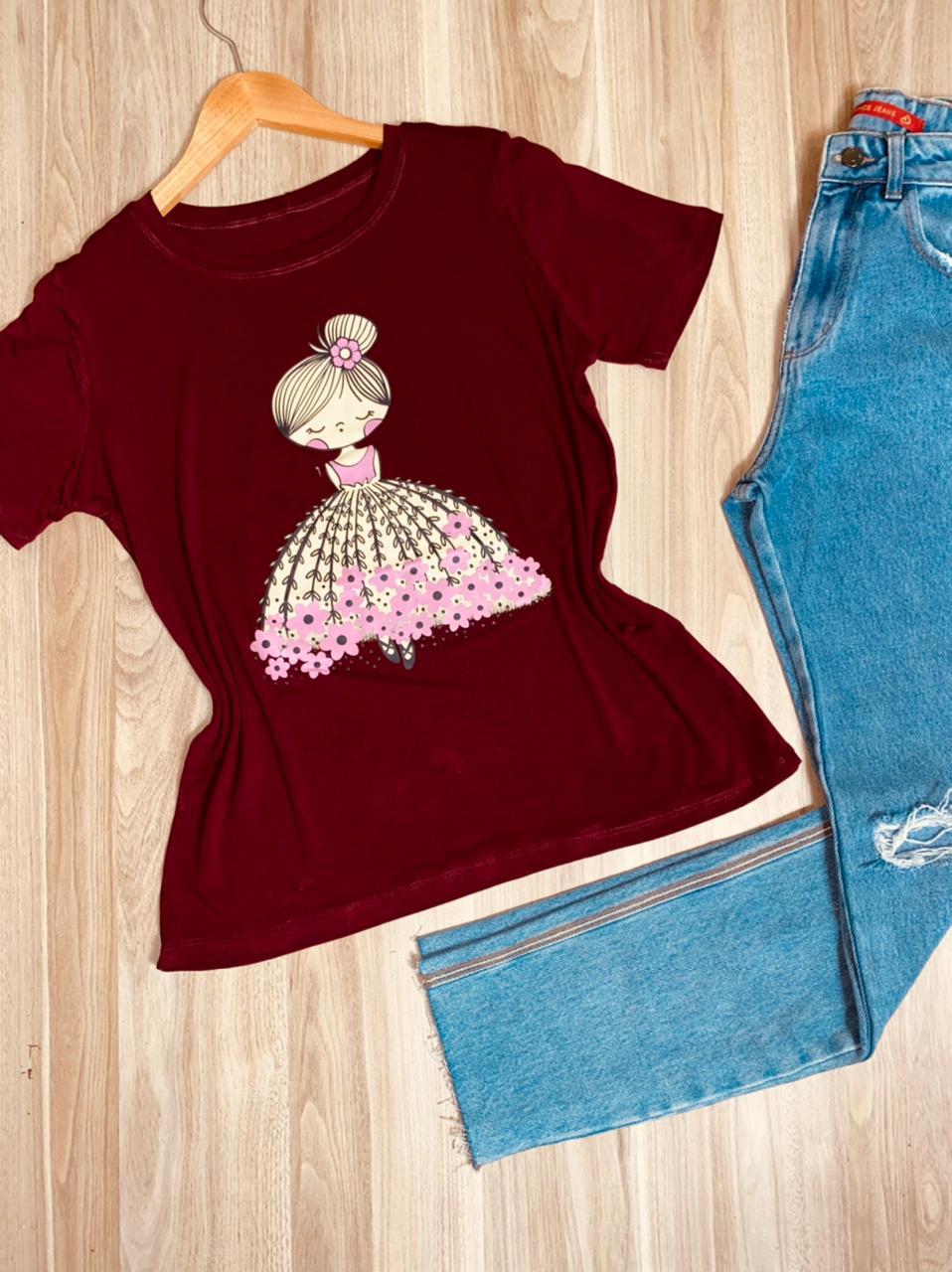 Camiseta Bonequinha Bailarina