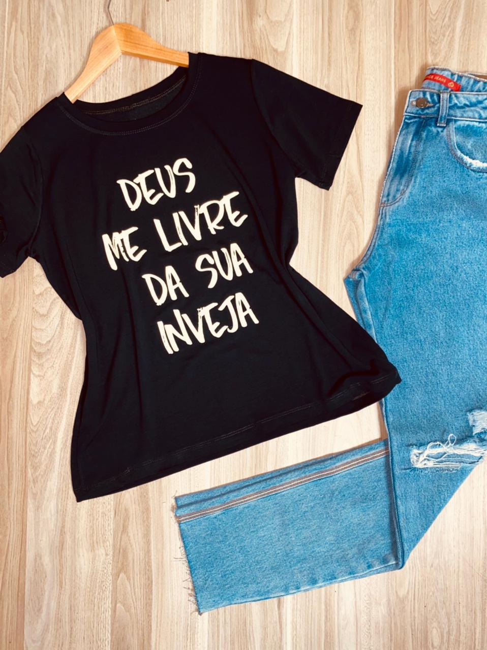 Camiseta Deus Me Livre da Sua Inveja