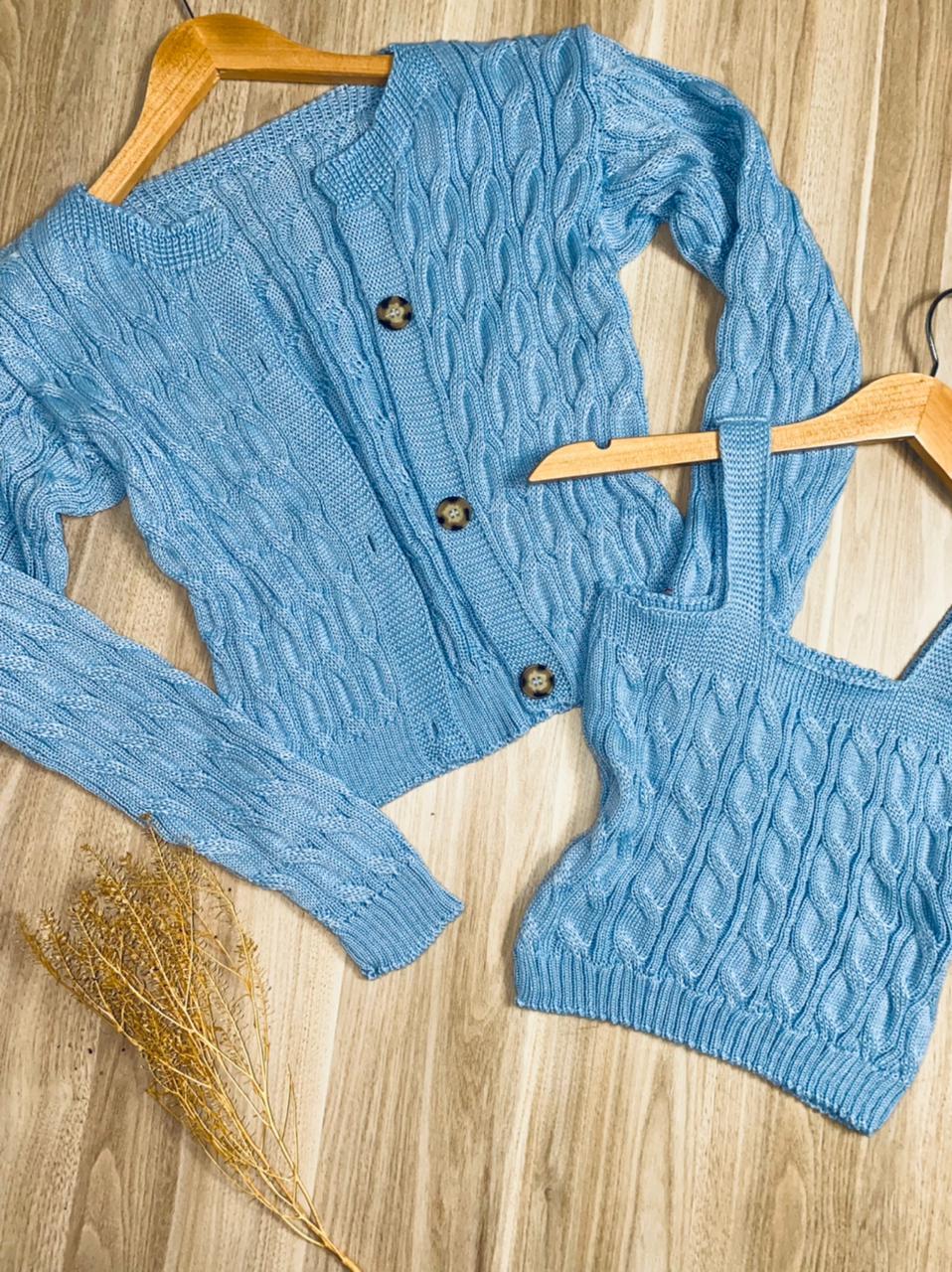 Conjunto Twin Set Lola Azul Claro