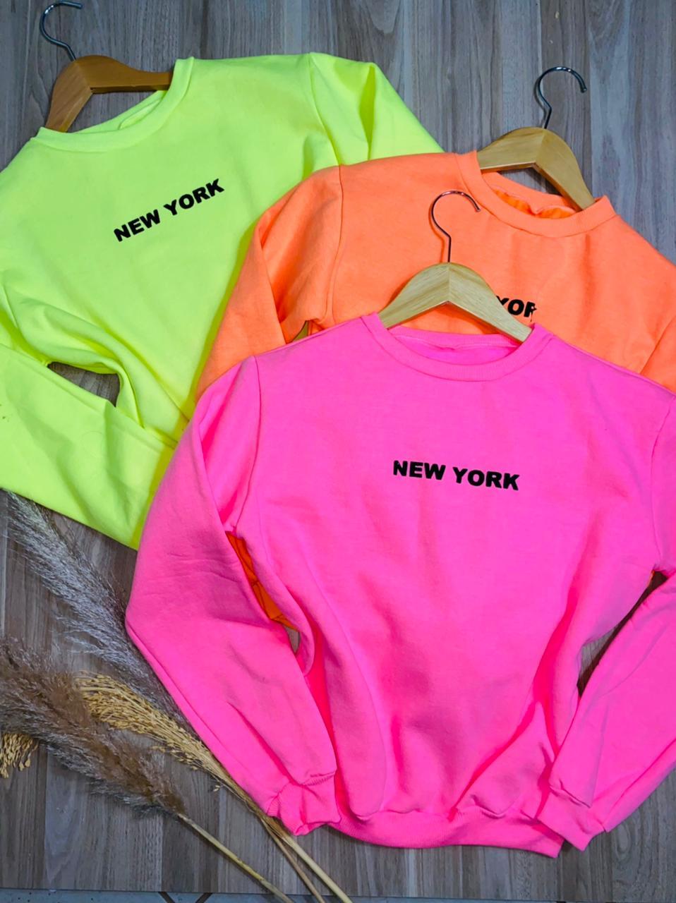 Moletom New York Neon